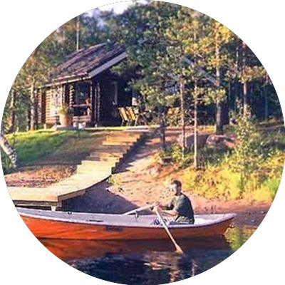 Log cottage river side in Finland ID-252