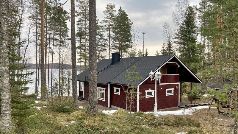 снять домик в финляндии на берегу озера для рыбалки недорого