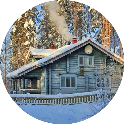 Five star log cottage for year-round use ID-857